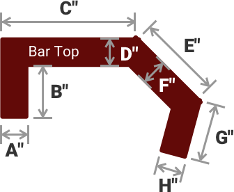 MULTI-ANGLED BAR TOP