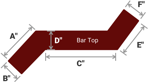 Z SHAPE BAR TOP