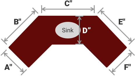 ANGLED 'C' SHAPE COUNTER