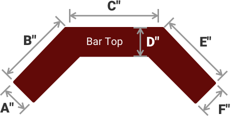 ANGLED 'C' SHAPE BAR TOP