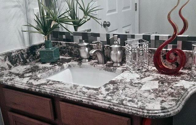 Granite Countertop in Orlando Bathroom