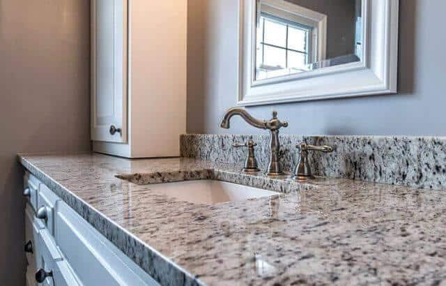 Quartz Countertop in Bathroom Orlando