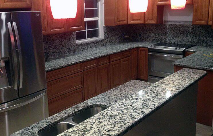 Granite and marble countertops in my kitchen 1