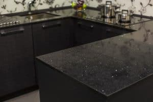 black countertops