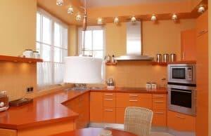 orange countetops