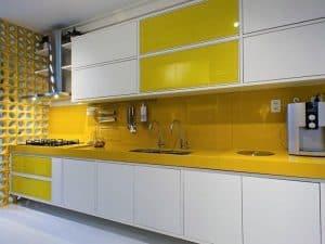 yellow countertops