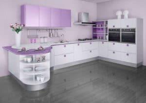 purple countertops